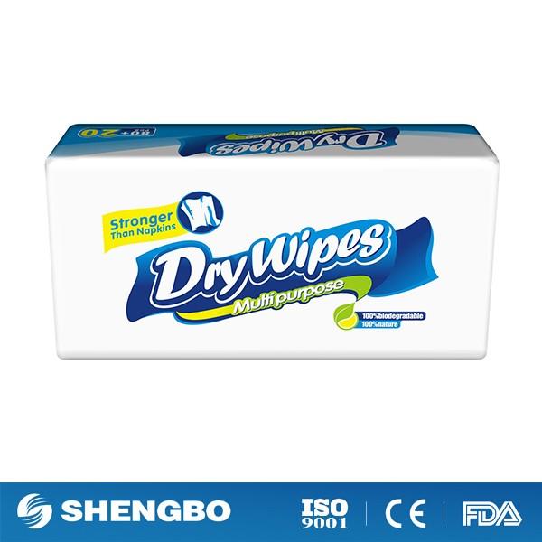 Pop-up dry wipes